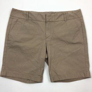 J. Crew Frankie brown stretch pockets shorts